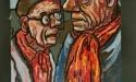 Hans Schuster und Carl Nagel 92 x 48 • Bild auf Leinwand Kunstmaler Johann Schuster Sammlung Ulrich vom Berg Bild 04